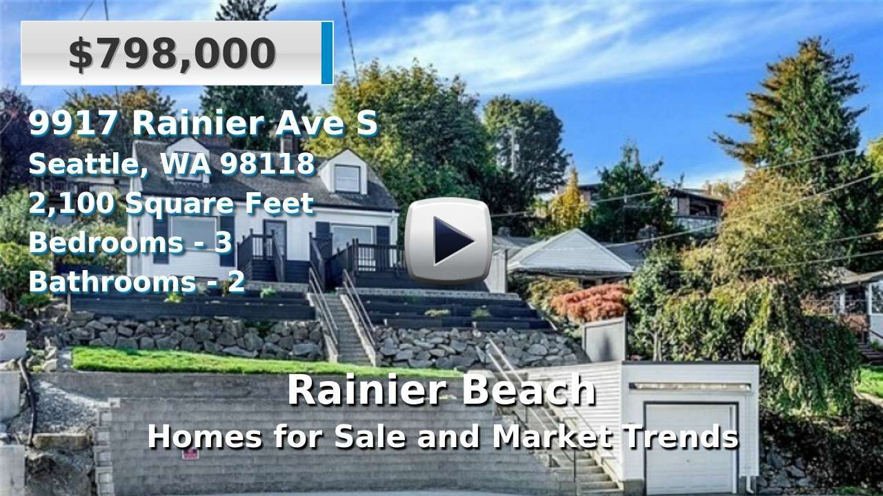 Rainier Beach Homes for Sale and Real Estate Trends