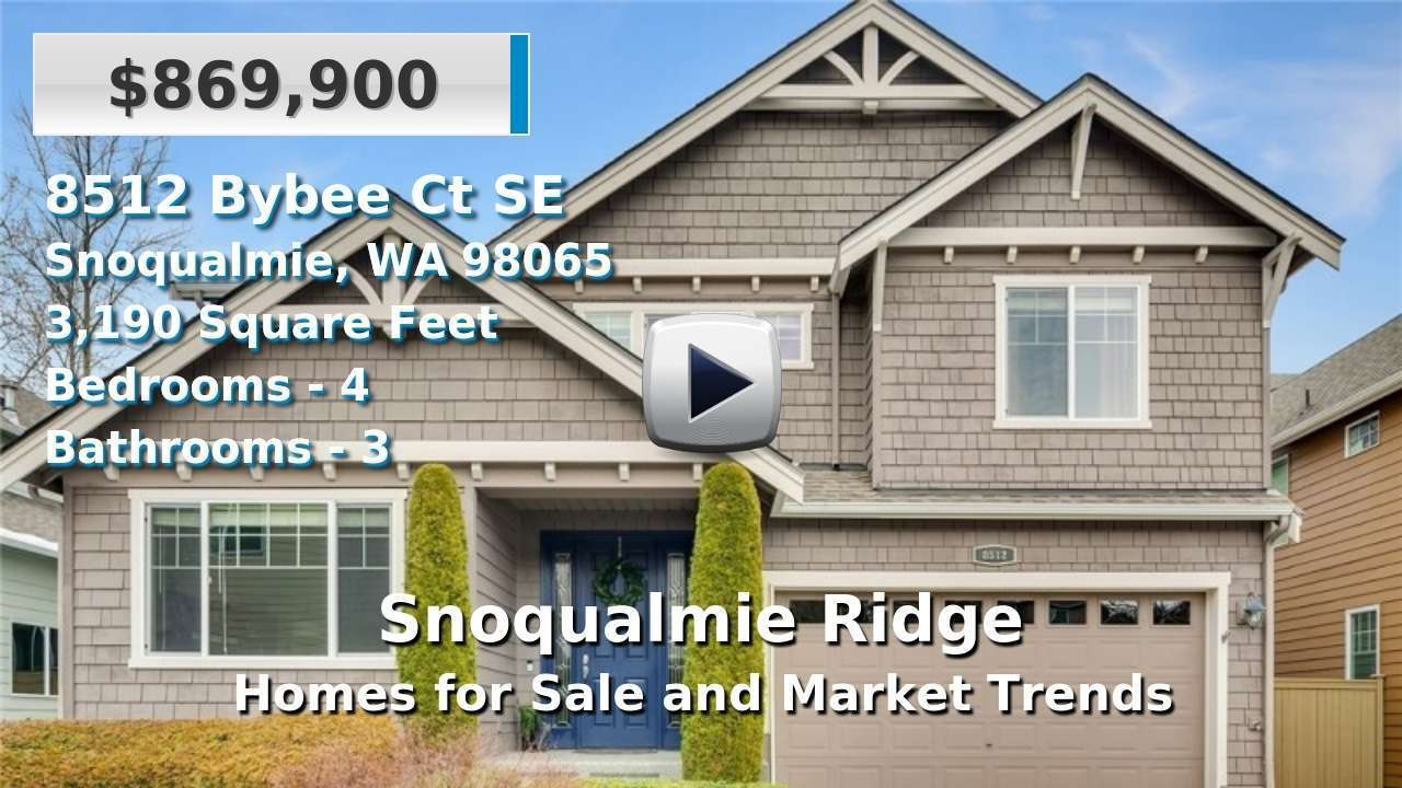 Snoqualmie Ridge Homes for Sale and Real Estate Trends