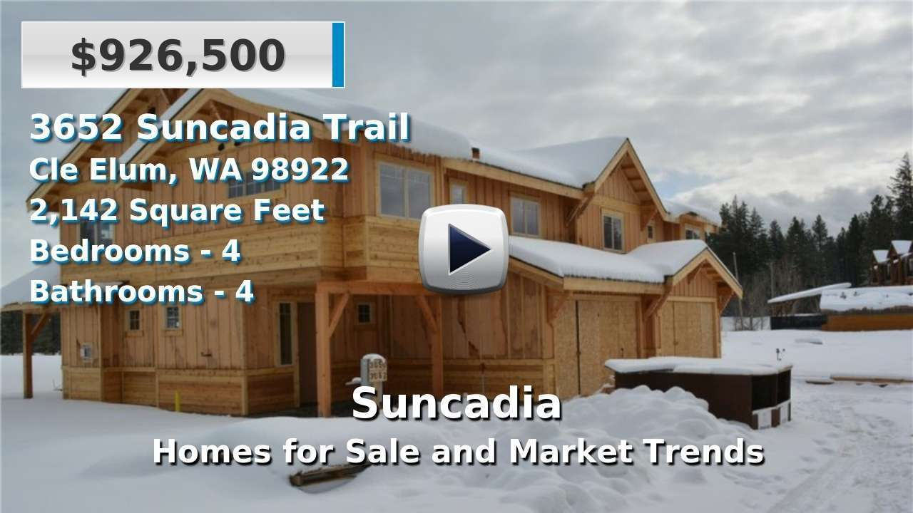 Suncadia Homes for Sale and Real Estate Trends