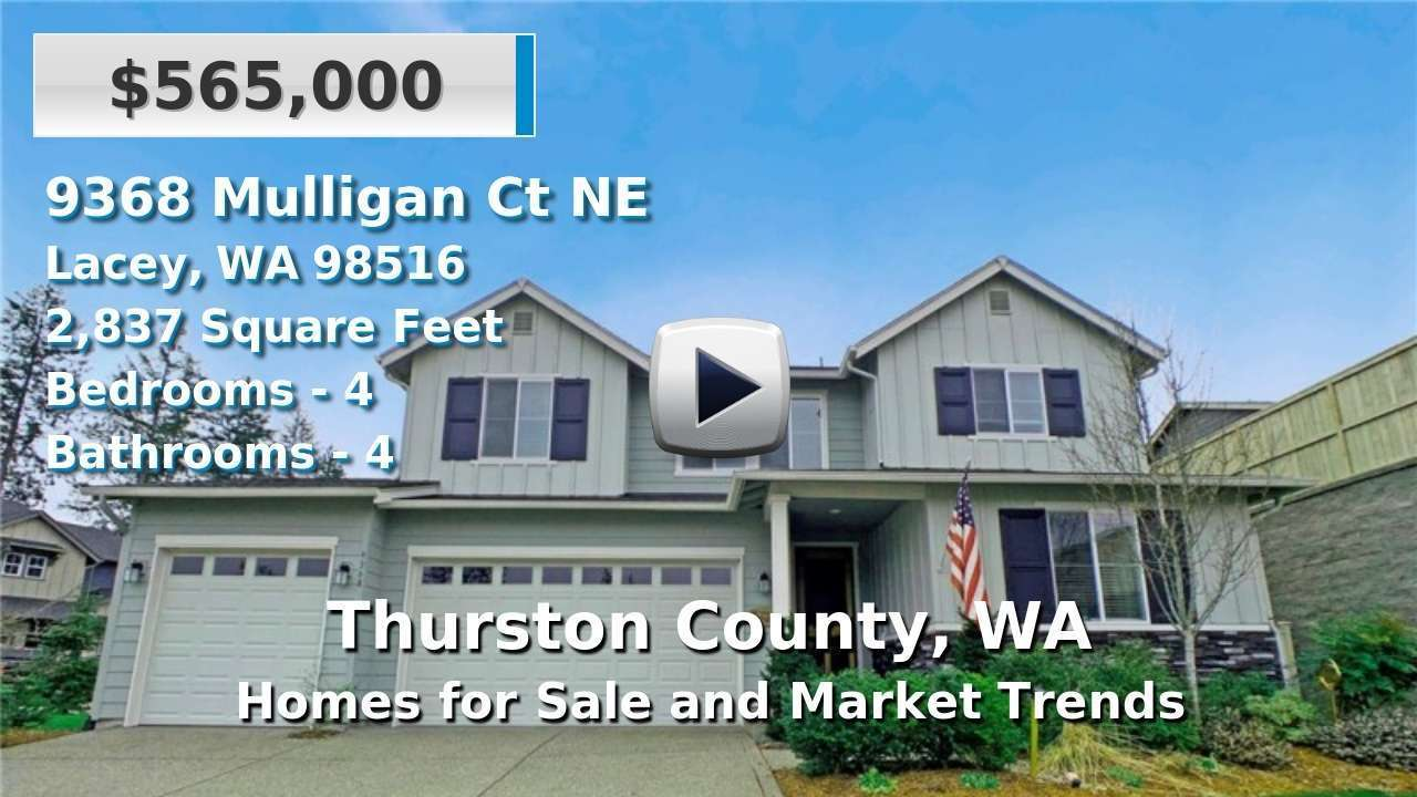 Thurston County Homes for Sale and Real Estate Trends