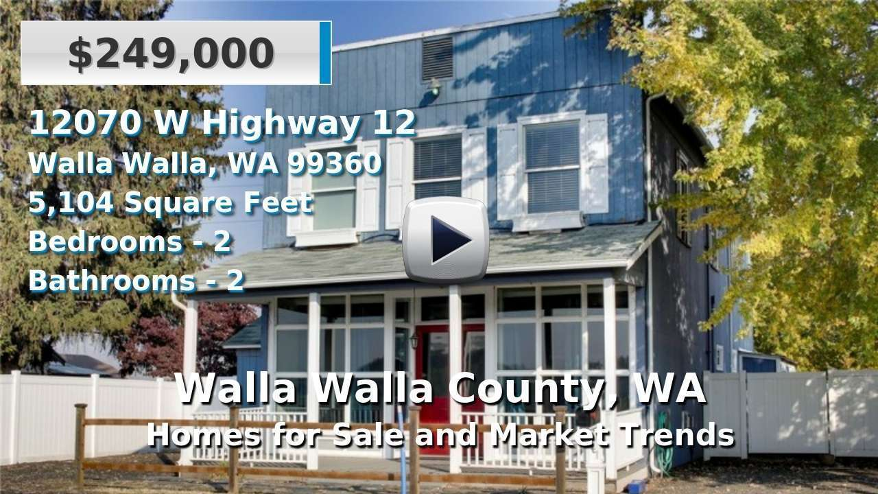 Walla Walla County Homes for Sale and Real Estate Trends